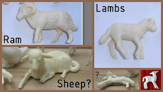 Vitacup Farm and Zoo Plastic Figurines Novelty Premium Animals Freebies Sheep Lambs, Small Scale World, smallscaleworld.blogspot.com