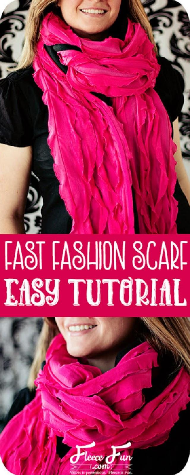 Fast Fashion Fleece Scarf
