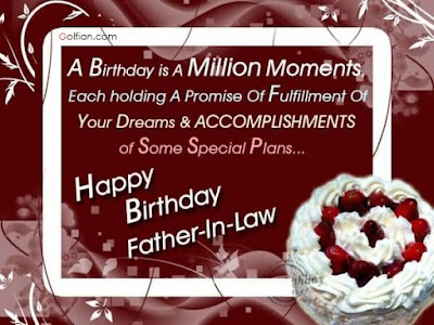 Happy Birthday  wishes quotes for father-in-law: a birthday is a million moments