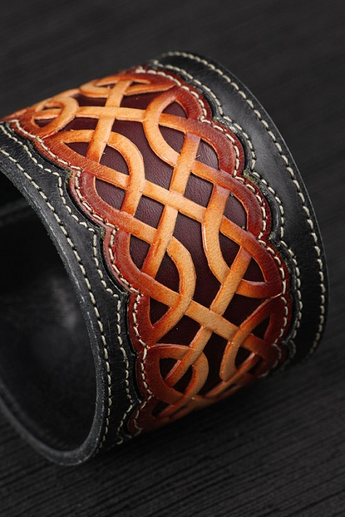 handmade leather cuff