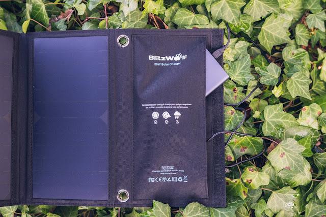 Blitzwolf BW-L3 28W 3.8A Outdoor Solarmodul  Solarladegerät  Mobile-Energie 05