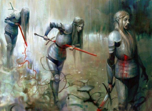 Seb McKinnon deviantart ilustrações fantasia sombria terror games magic