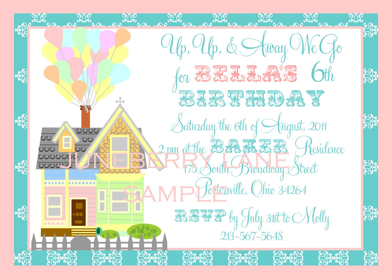 Up Themed Wedding Invitations: Juneberry Lane: A New Line Of 'Up' Invitations & Labels