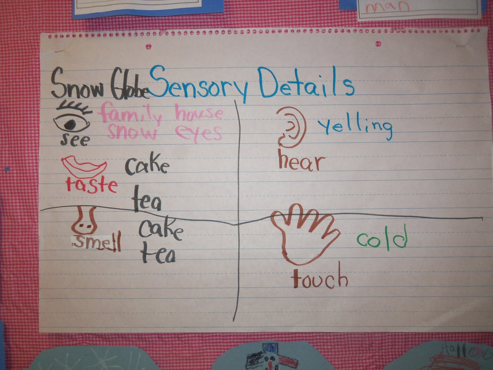Mrs Wood S Kindergarten Class Sensory Details Snow Globe