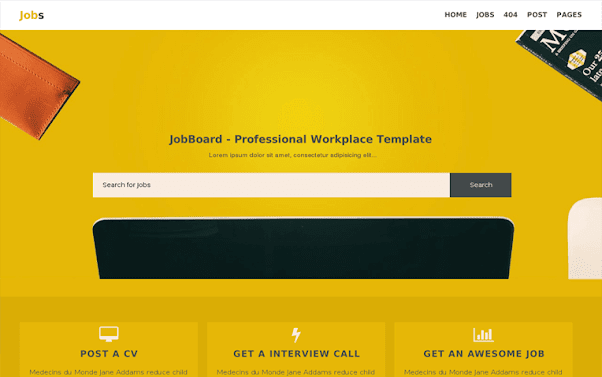 Jobs Free Blogger Template
