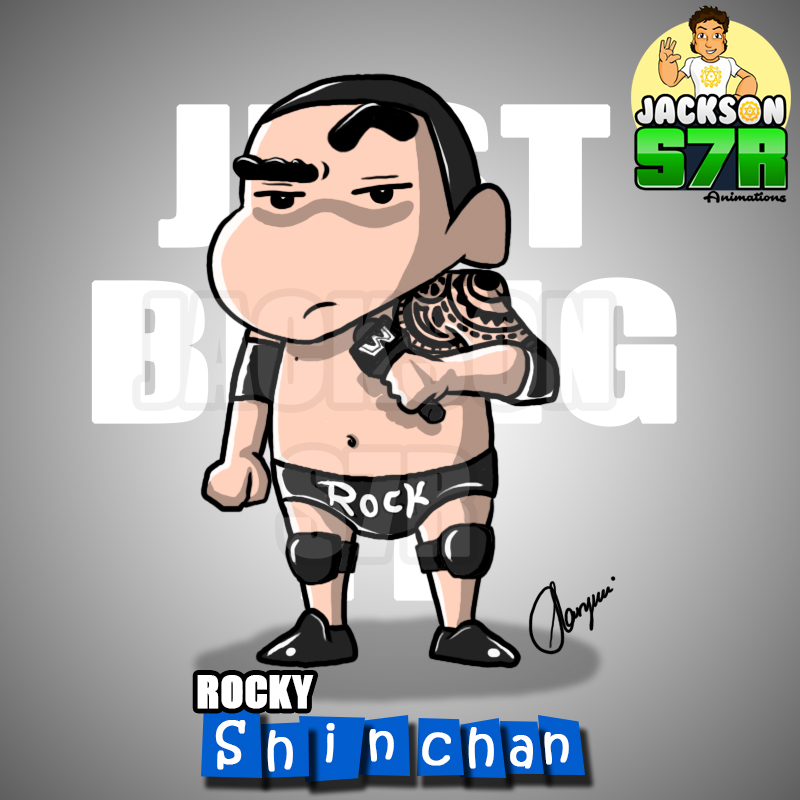 shin chan wwe rock version rocky shin chan just bring it