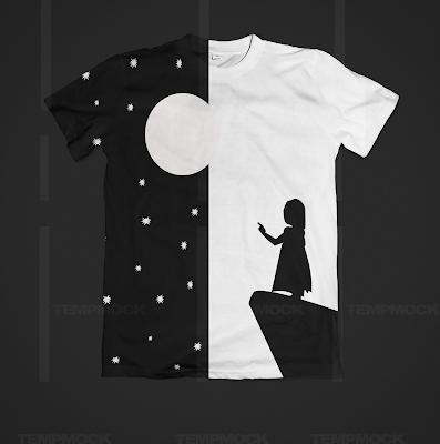 t shirt girls inspiration negative space