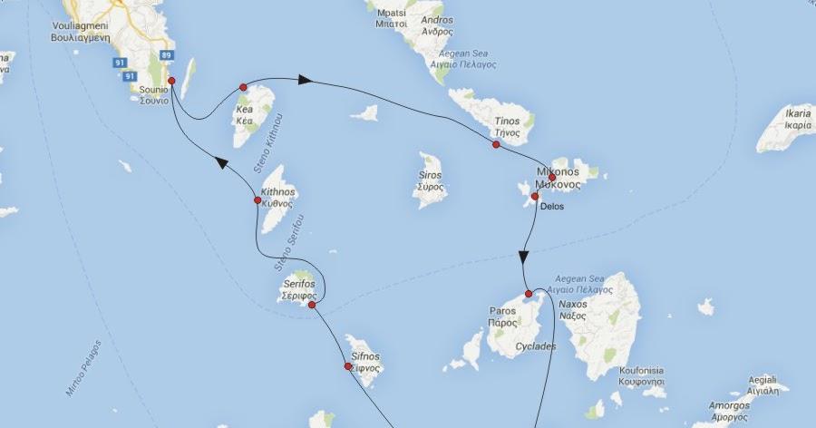 Maria Ta Propunere Traseu Grecia Nr G4 Insulele Ciclade
