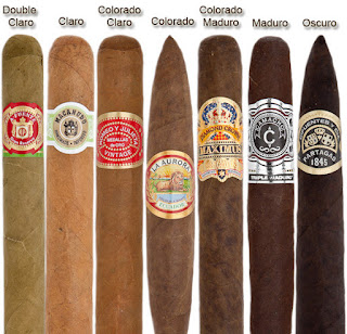 Various cigar wrapper colors