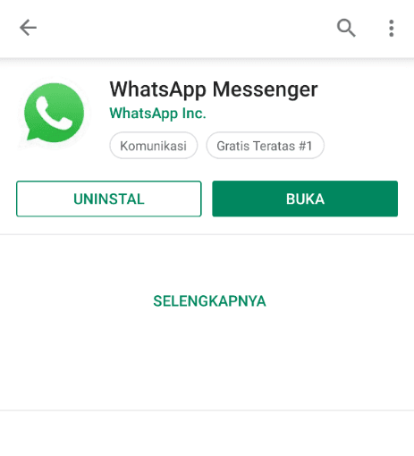 Install Ulang WhatsApp