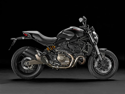 All New Ducati Monster 821 Black side view HD Images