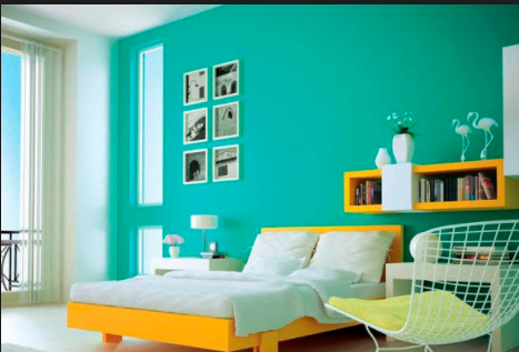 Enamel Painted Interior Wall Of A Bedroom