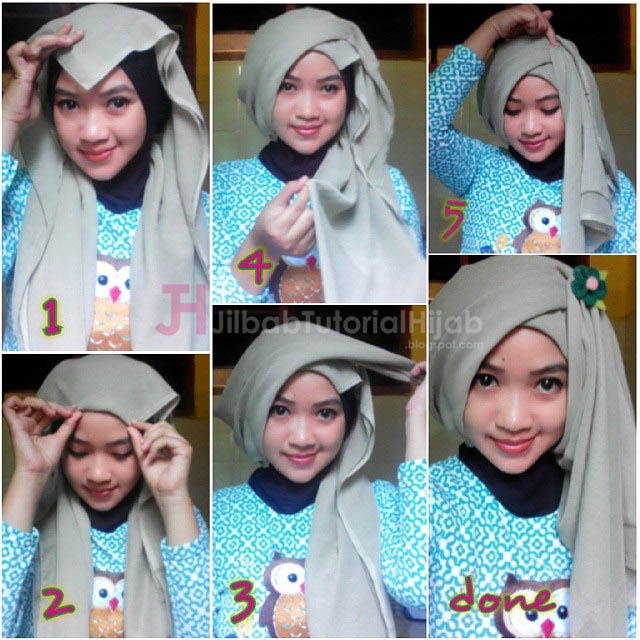 Tutorial Hijab Turban Segi Empat Simple | Jilbab Tutorial