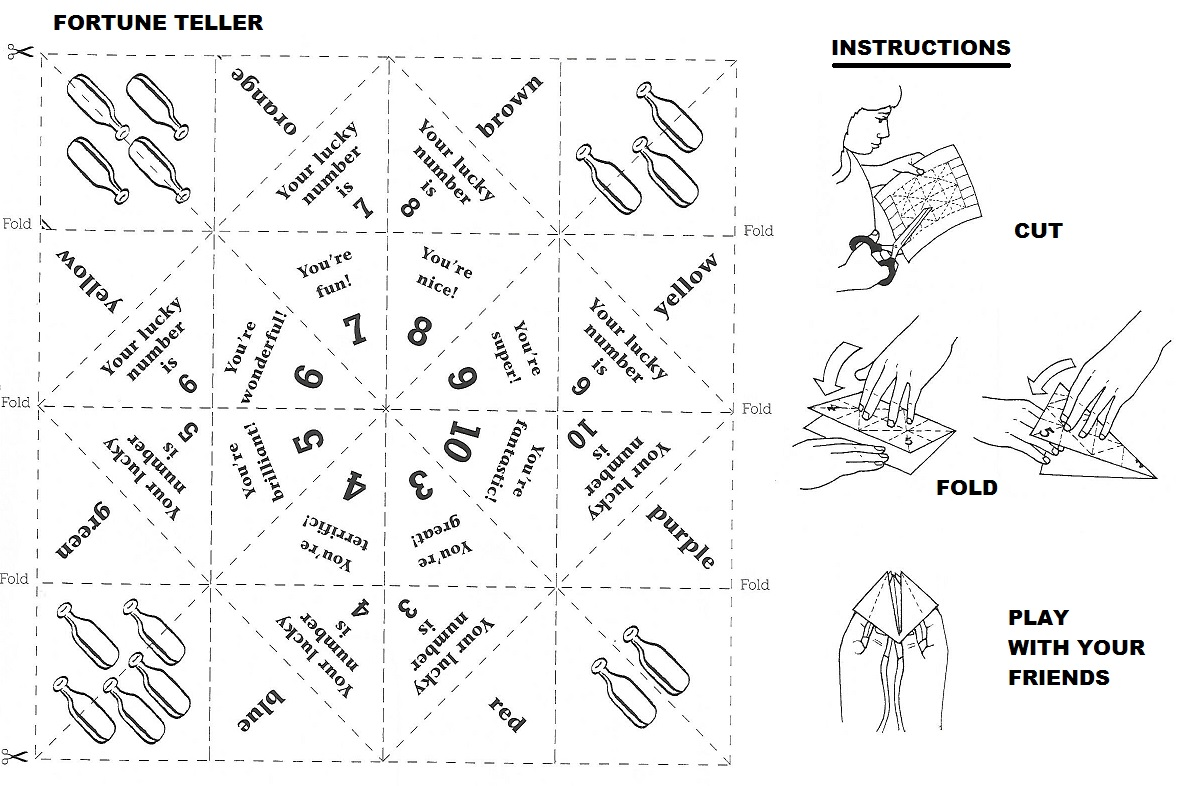 Comfortable fortune teller origami template gallery example pretty fortune teller origami template images example resume and jeuxipadfo Images