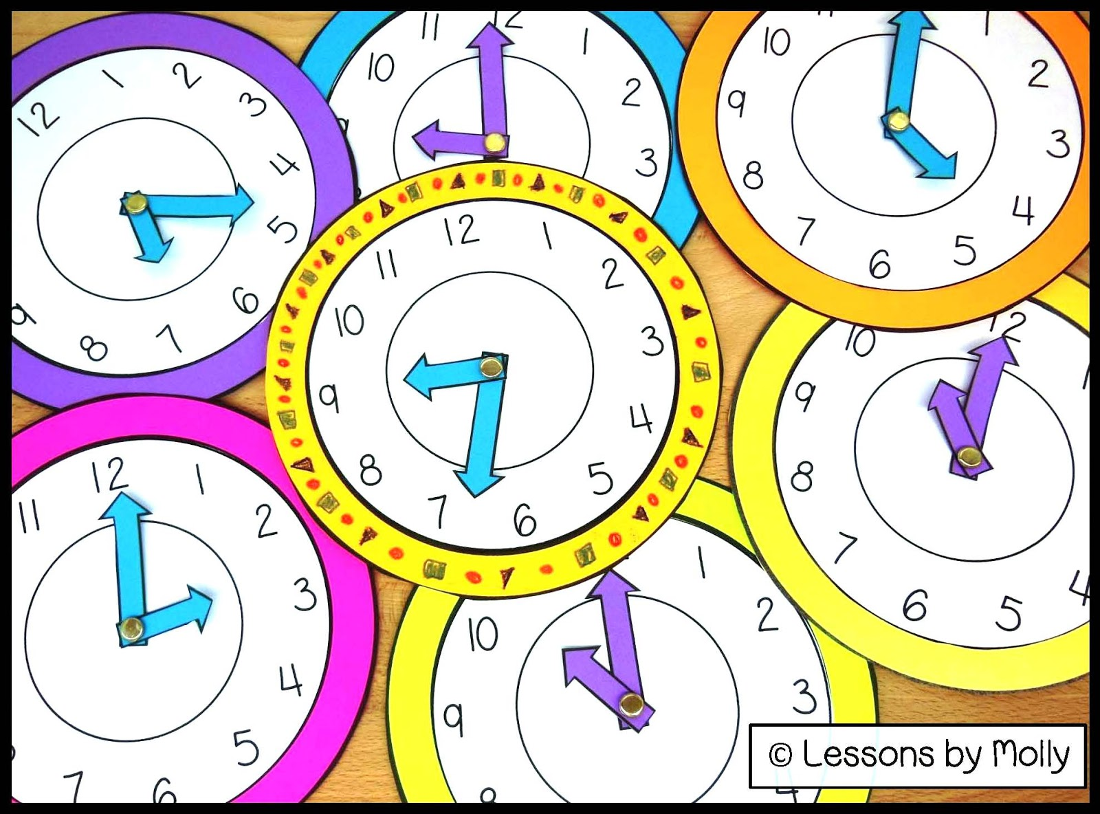 Lessons by Molly: Analog Paper Clock for Kids with ...