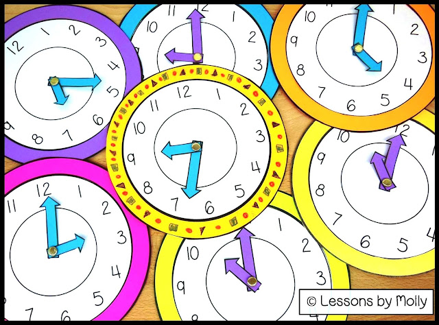 "These analog paper clocks will make learning to tell time fun and engaging for your students!  The moveable hands make these clocks interactive!  Use the clocks when students are learning about the numerals on a face clock or when teaching the difference between the hour hand and the minute hand.  Make each clock unique by having the students decorate the frames with crayons or magic markers.  Display the clocks on a bulletin board with a catchy phrase such as, ""It's TIME for a New Year.""  FREE!"