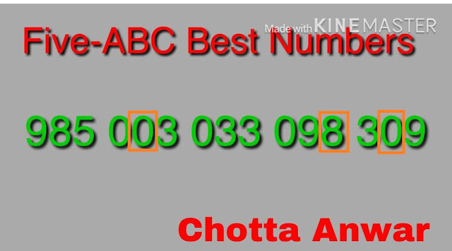 Akahaya AK-353 five abc number Kerala lottery Guessing by Chortta Anwar on 10-07-2018