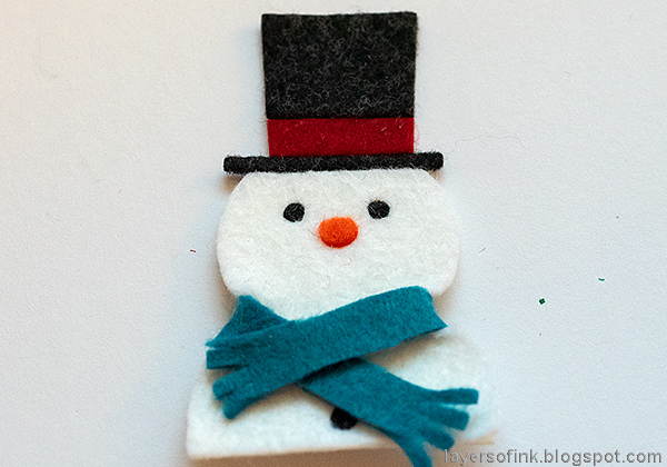 Layers of ink - Snowman Wall-hanging Tutorial by Anna-Karin Evaldsson, with Simon Says Stamp Picturebook Snowman.