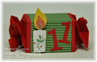 candy wrapper advent candle