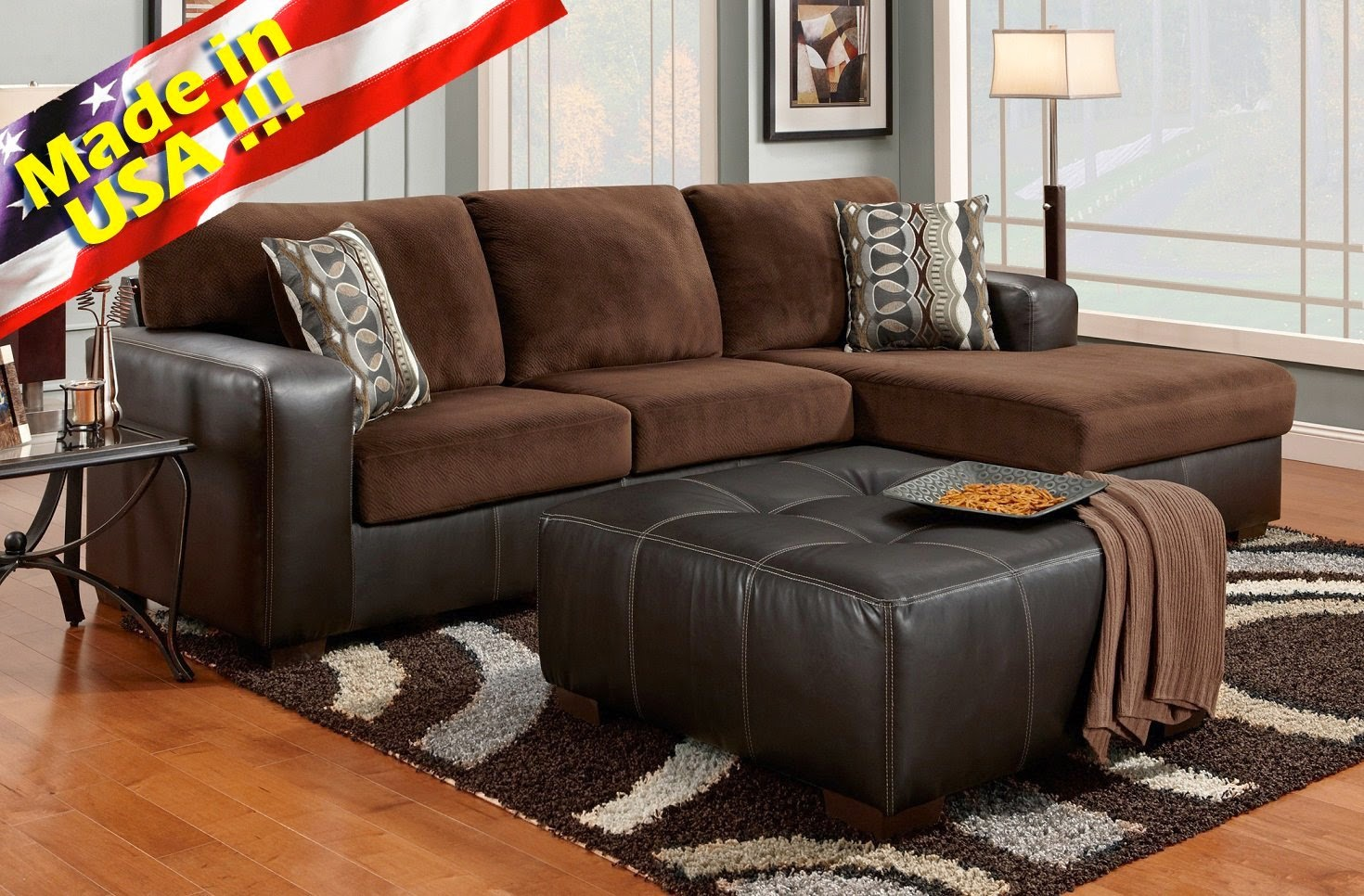 brown cumulus 2 toned sectional sofa chaise sets