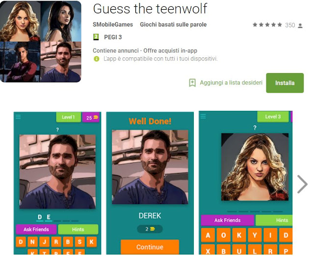 Soluzioni Guess the teenwolf