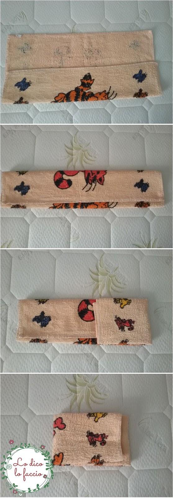 come piegare asciugamani in valigia