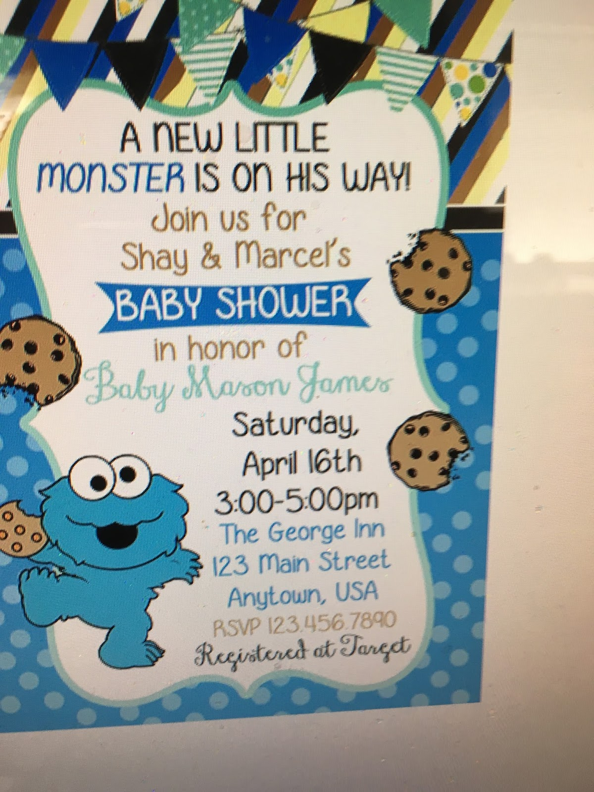 Cookie Monster Baby Shower Invitations – gangcraft.net