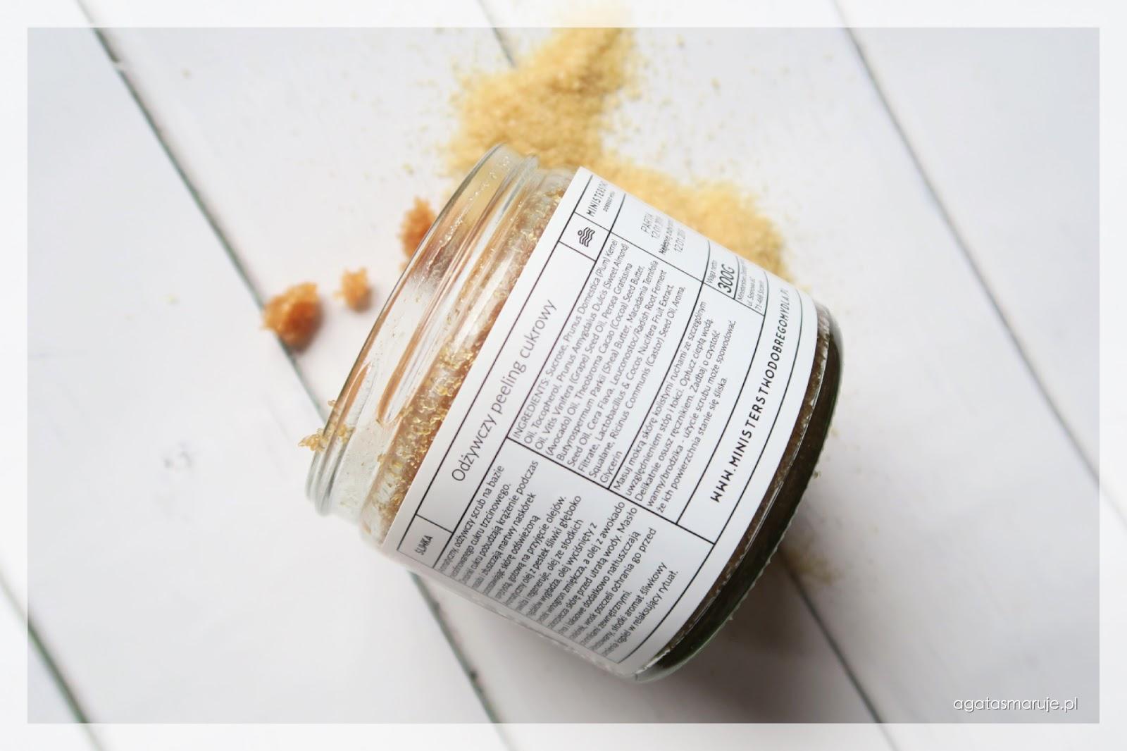 Ministerstwo Dobrego Mydła śliwkowy Odżywczy peeling cukrowy INCI