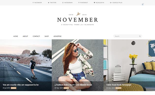 Download November Blogger Blogspot Template