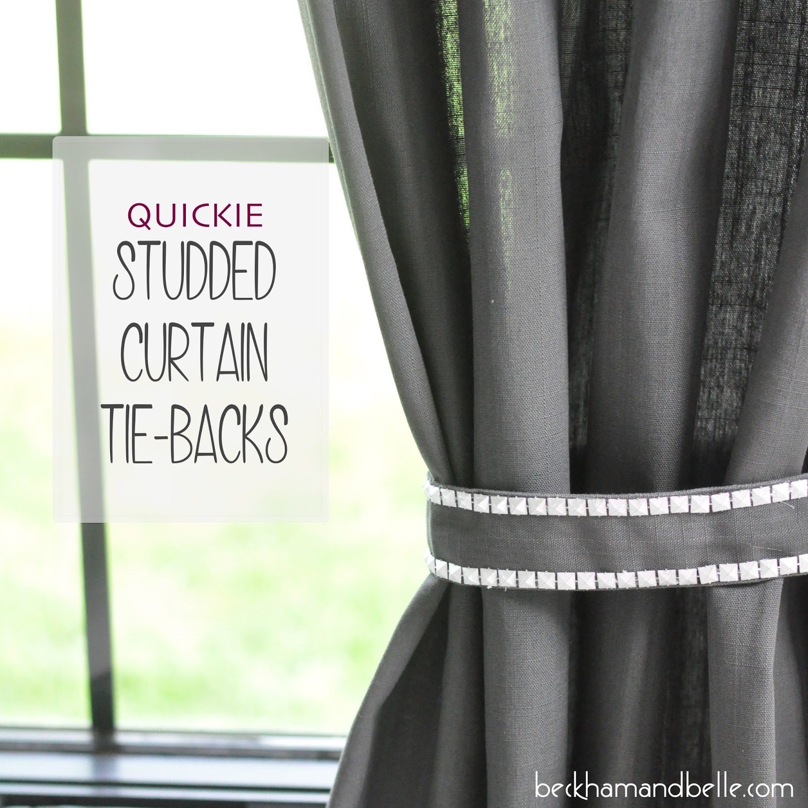 DiY Studded Curtain Tie Backs