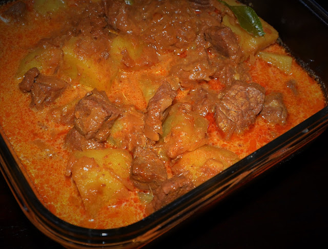 coconut meat curry with potatoes