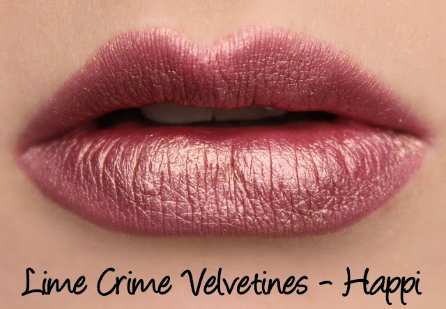 Lime Crime Velvetines - Happi Swatches & Review