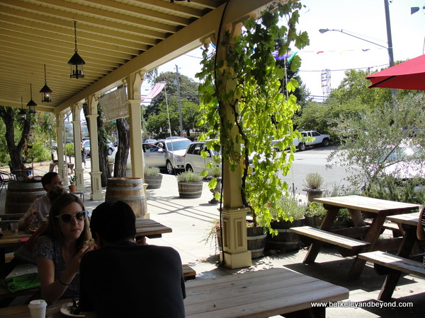 front patio at Boonville General Store in Boonville, California