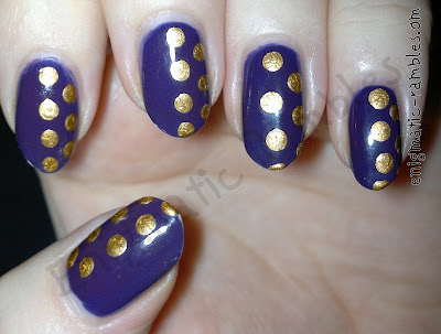 half-dot-dots-dotted-nails-nail-art-purple-gold