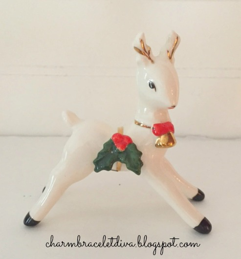 Inarco white porcelain reindeer