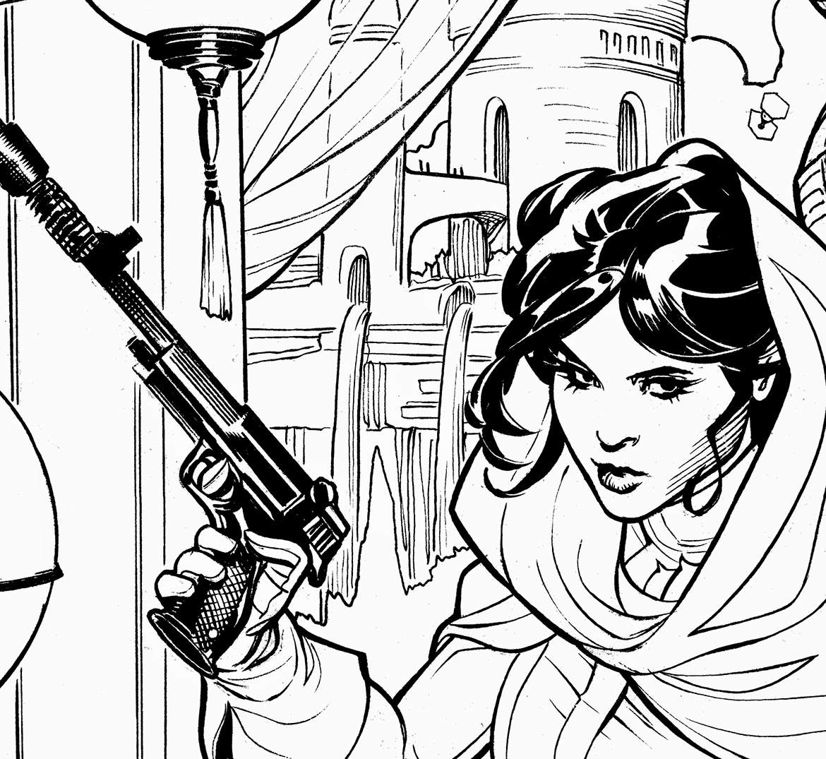 The bombshellter star wars princess leia 2 cover step for Princess leia coloring page