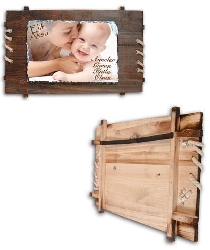 Anneye Çok özel hediye, Annelere en güzel hediye, anne hediyeleri, resim çerçeveleri taş baskı