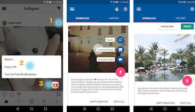 Cara menyimpan video dari instagram ke galeri hp