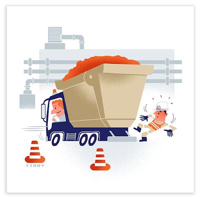 Clod illustration prévention des accidents au travail pour la Lyonnaise des Eaux