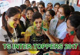 Telangana TS Inter Toppers 2017, Telangana Inter 1st 2nd year Pass Percentage 2017, TS Inter Toppers Photos