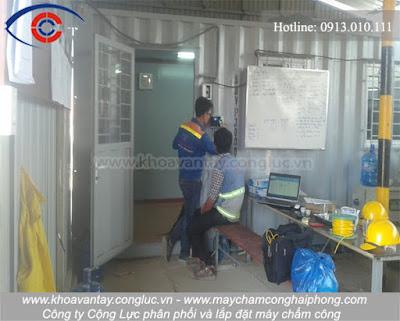 thi công lắp máy chấm công tại KCN VSIP, Hải Phòng.