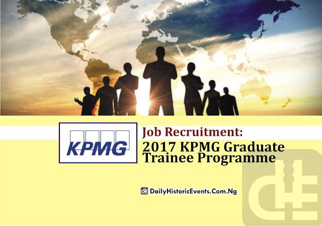 JOB Recruitment: 2017 KPMG Graduate Trainee Programme