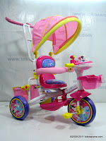 1 GoldBaby Pororo Winch Baby Tricycle in Pink