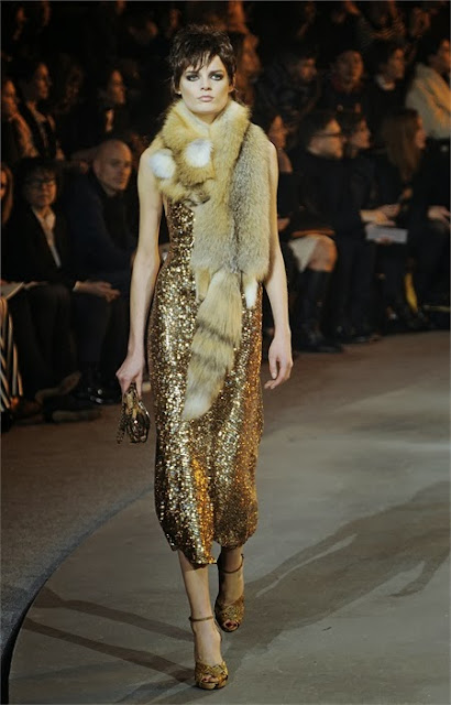 Gold Dress paillettes by Marc Jacobs.