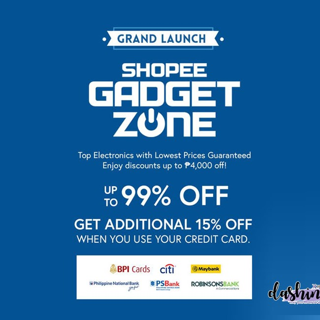 Shopee Goes Cashless, Offers 72 hours of Free Shipping in Time for the Grand Launch of Shopee Gadget Zone  | Press Release