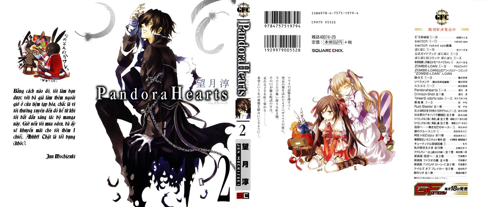 Pandora Hearts chương 005 - retrace: v clockwise doom trang 1