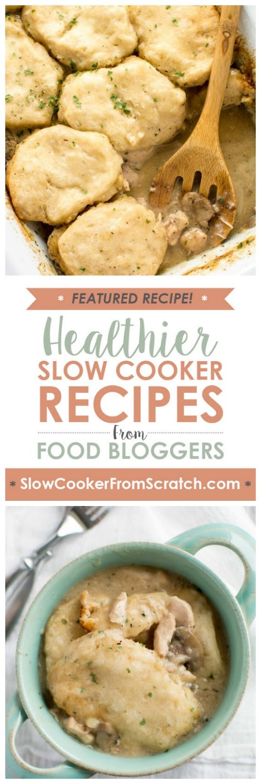 Casserole Crock Saturdays: Slow Cooker Chicken Gravy and Biscuits from Slow Cooker Gourmet found on SlowCookerFromScratch