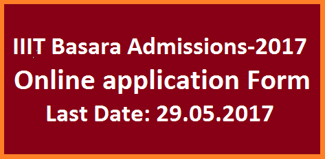 Basara IIIT Admission Notification 2017 Online Application Form for 6 years integrated B.Tech IIIT Basara Campus Inviting online applications for 6 years B.Tech integrated Course with SSC qualifications.Last date to apply online for Basara RGUKT is 29.05.2017. Schedule for IIIT Basara admission notification. basara-iiit-admission-notification-2017-online-application-form