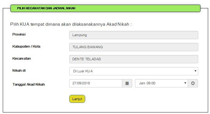 Panduan Simkah Online Pendaftaran Nikah