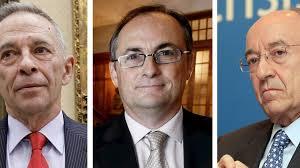 Éstos son los tres principales responsables jerárquicos de las estafas de la banca en España..